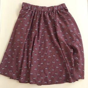 Dalmation Skirt Dog Print Novelty w Pockets Medium